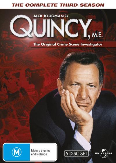 QUINCY M.E. - THE COMPLETE SEASON 3 (1977) NEW DVD