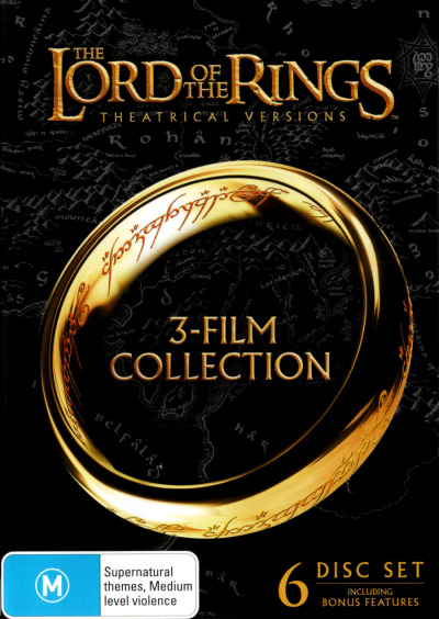 THE LORD OF THE RINGS TRILOGY (THEATRICAL VERSIONS) (6 DISCS) (2001) NEW DVD