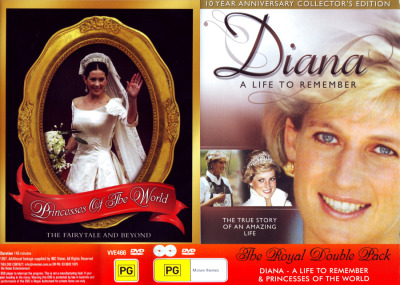 DIANA A LIFE TO REMEMBER + PRINCESSES OF THE WORLD (DOUBLE PACK) NEW DVD