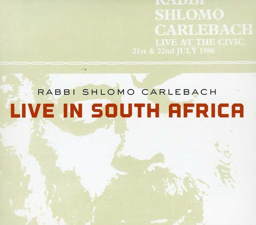 SHLOMO CARLEBACH - LIVE IN SOUTH AFRICA (DIGIPAK) NEW CD